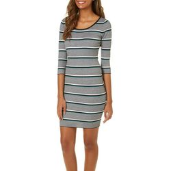 Say What? Juniors Striped Sweater Dress