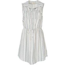 Be Bop Juniors Striped Collared Dress