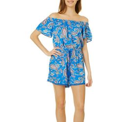 Be Bop Juniors Printed Paisley Romper