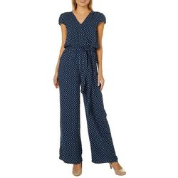 Be Bop Juniors Polka Dot Faux-Wrap Jumpsuit