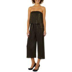 Be Bop Juniors Strapless Shimmer Jumpsuit