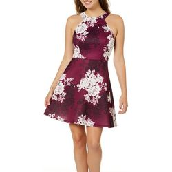 Be Bop Juniors Romantic Rose Fit & Flare Dress