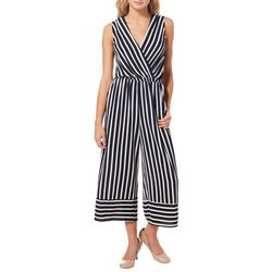 Be Bop Juniors Striped Faux-Wrap Capri Jumpsuit