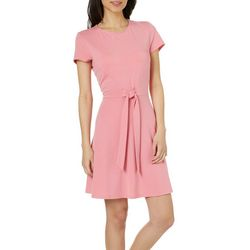 Be Bop Juniors Solid Tie Front T-Shirt Dress