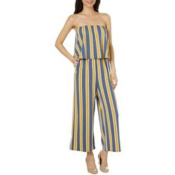 Be Bop Juniors Striped Popover Sleeveless Gaucho Jumpsuit