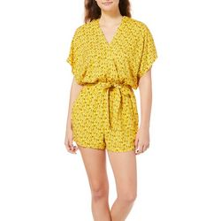 Be Bop Juniors Printed Faux Wrap Romper