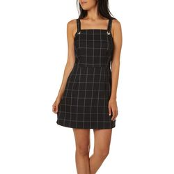 Be Bop Juniors Square Plaid Sleeveless Jumper Dress