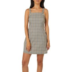 Be Bop Juniors Plaid Sleeveless Jumper Dress