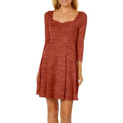 Be Bop Juniors Heathered Knit Panel Dress