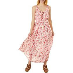 Be Bop Juniors Sleeveless Floral Print Maxi Dress