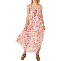 Be Bop Juniors Sleeveless Floral Print Maxi Dress