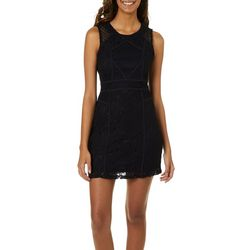 Grayson Juniors Geometric Lace Sheath Dress