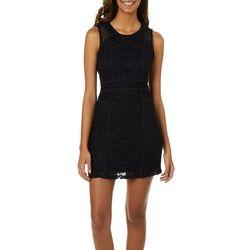 Grayson Juniors Geometric Lace Sheath Dress