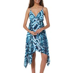 Grayson Juniors Tie Dye Handkerchief Hem Dress