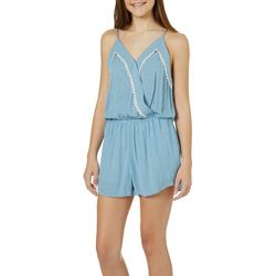 Tresics Juniors Chambray Sleeveless Romper