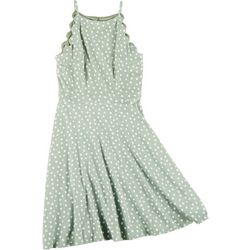 A. Byer Juniors Scalloped Halter Dress