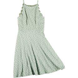A. Byer Juniors Scalloped Halter Dress