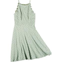 Juniors Scalloped Halter Dress