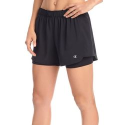 Champion Womens Stretch Woven Two-In-One Shorts