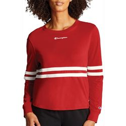 Champion Womens Heritage Stripe Long Sleeve T-Shirt