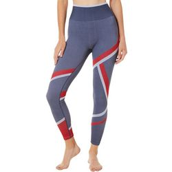Champion Womens Infinity Asymmetrical Stripe Capri Leggings