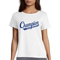 Champion Womens Anniversary 1919-2019 Short Sleeve T-Shirt