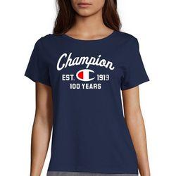 Champion Womens Anniversary 100 Years Short Sleeve T-Shirt