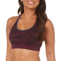 Champion Womens Camo Strappy Back Seamless Sports Bra