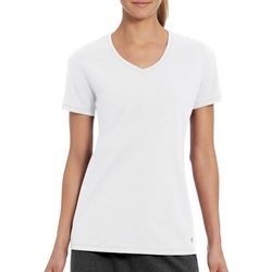 Champion Womens Jersey Knit V-Neck T-Shirt