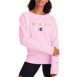 Champion Womens Powerblend Graphic Long Sleeve Sweatshirt