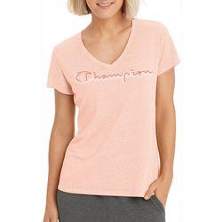 Champion Womens Authentic Wash V-Neck T-Shirt