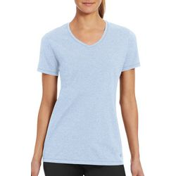 Champion Womens Jersey Heathered Solid V-Neck T-Shirt