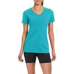 Champion Womens Jersey Heathered V-Neck T-Shirt