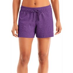 Champion Womens Heathered Side Split Jersey Shorts