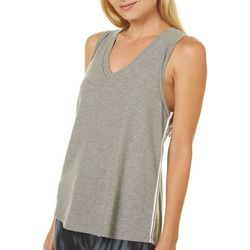 Inspired Hearts Juniors Heathered Side Striped Tank Top