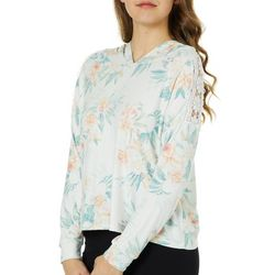 Inspired Hearts Juniors Cropped Tropical Floral Sweatshirt
