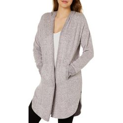 Inspired Hearts Juniors Heathered Hooded Longline Cardigan