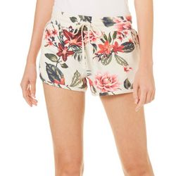 Inspired Hearts Juniors Tropical Floral Pull On Shorts