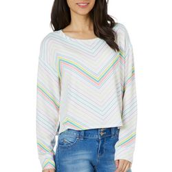 Inspired Hearts Juniors Chevron Long Sleeve Top