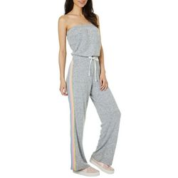 Inspired Hearts Juniors Soft Side Stripe Strapless Jumpsuit