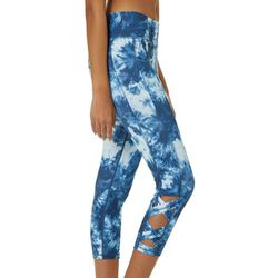 Inspired Hearts Juniors Tie Dye Crisscross Capri Leggings