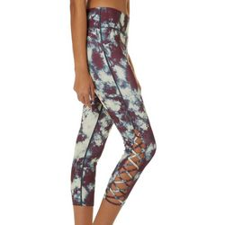 Inspired Hearts Juniors Faded Tie Dye Performance Leggings