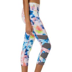Inspired Hearts Juniors Tie Dye Caged Mesh Capri Leggings