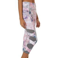 Inspired Hearts Juniors Galaxy Tie Dye Mesh Capri Leggings