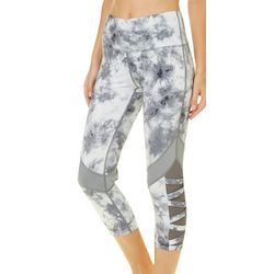 Inspired Hearts Juniors Marbled Capri Performance Leggings
