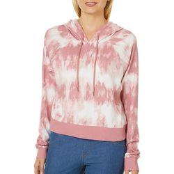 Inspired Hearts Juniors Tie Dye Hooded Sweatshirt