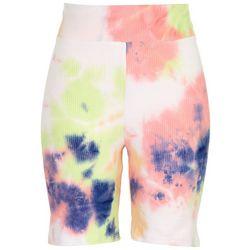 Derek Heart Juniors High Rise Tie-Dye Shorts