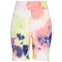 Juniors High Rise Tie-Dye Shorts