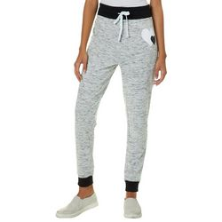 Miss Chievous Juniors Heathered Hearts Jogger Pants