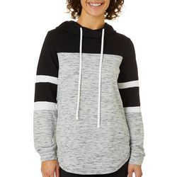 Miss Chievous Juniors Colorblock Heathered Pullover Hoodie